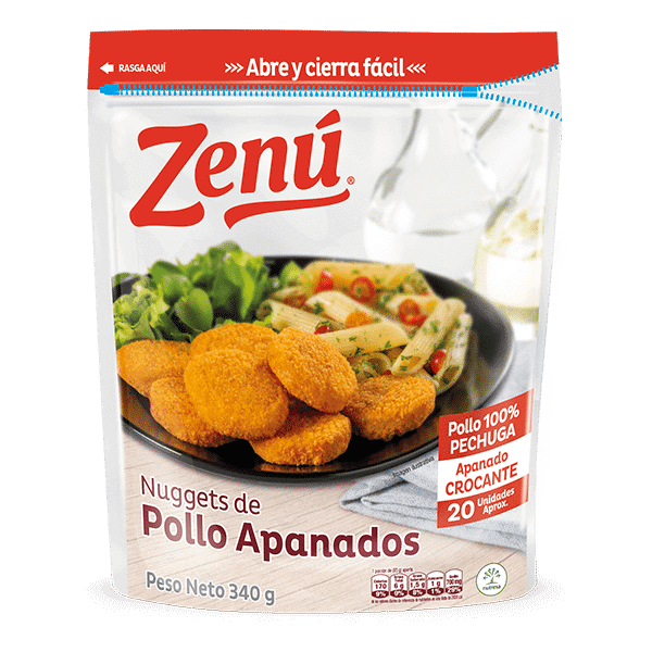 Nuggets de pollo apanado